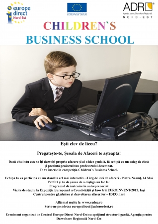 Eveniment promovare Children`s Business School